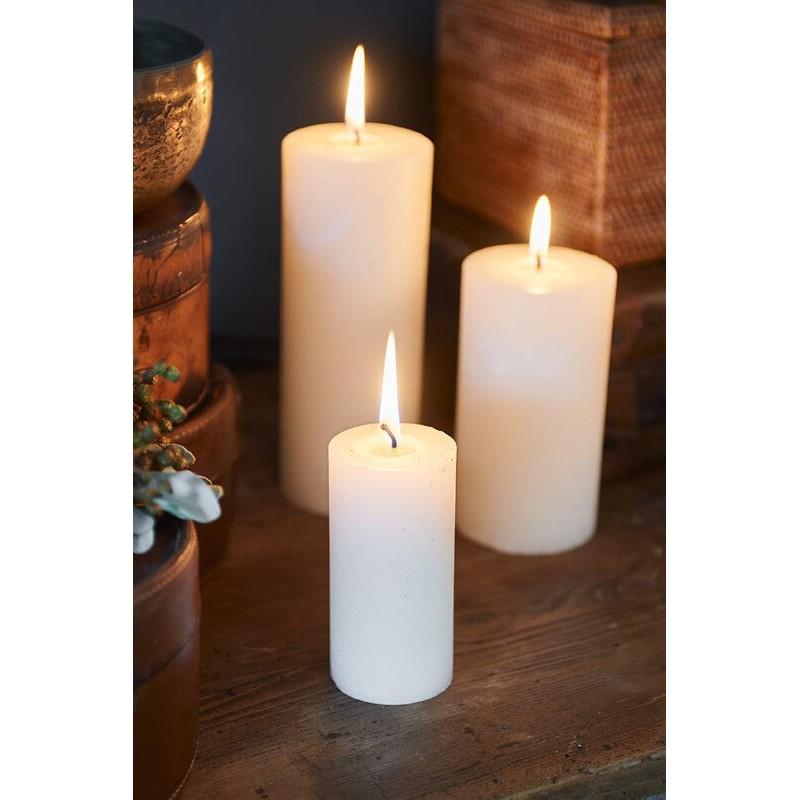 Świeca RM Ivory / Rustic Candle Basic Ivory 5x10-715