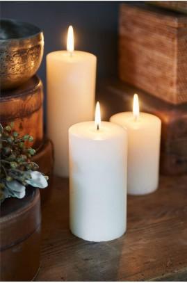Świeca Ivory 7x13 / Rustic Candle Basic Ivory 7x13