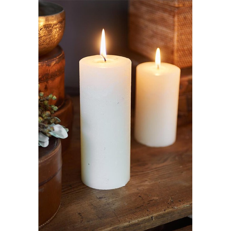 Świeca RM Ivory / Rustic Candle Basic Ivory 7x18-703