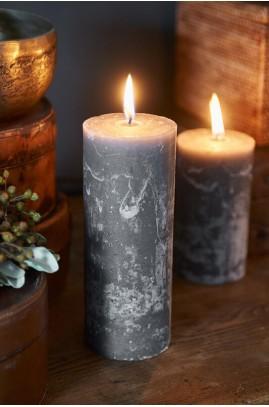 Świeca Grey 7x18 / Rustic Candle Grey 7x18