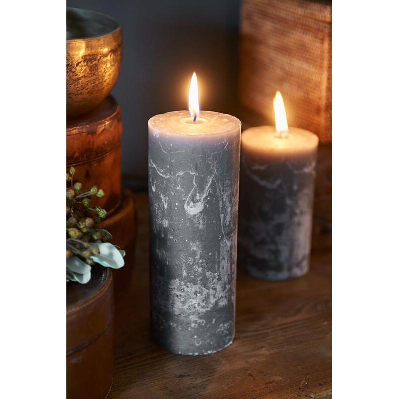 Świeca RM Grey / Rustic Candle Grey 7x18-702