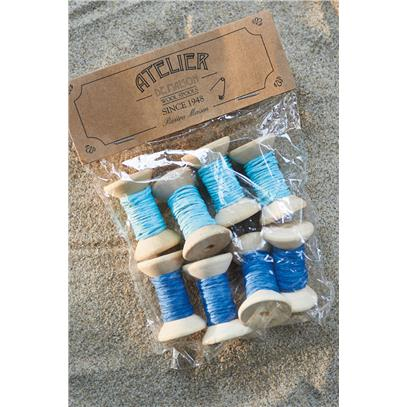 Dekoracja Wełna Nieb./ Shades Of Blue Wool Spools-559