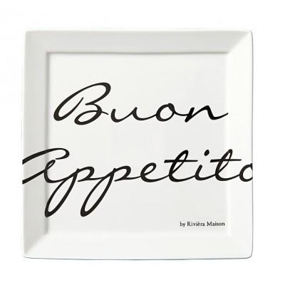Talerz 22x22 / Buon Appetito Square Plate 22x22-166