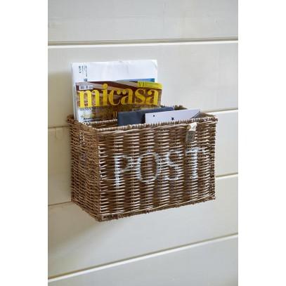 Kosz na listy / Rustic Rattan Post Basket-633