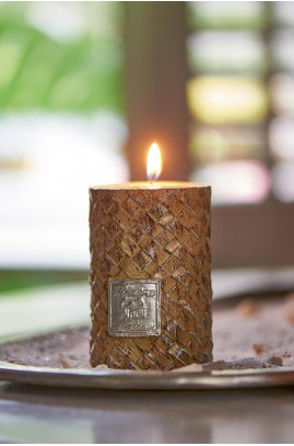 Świeca RM / Rustic Slanted Weave Candle 7x10
