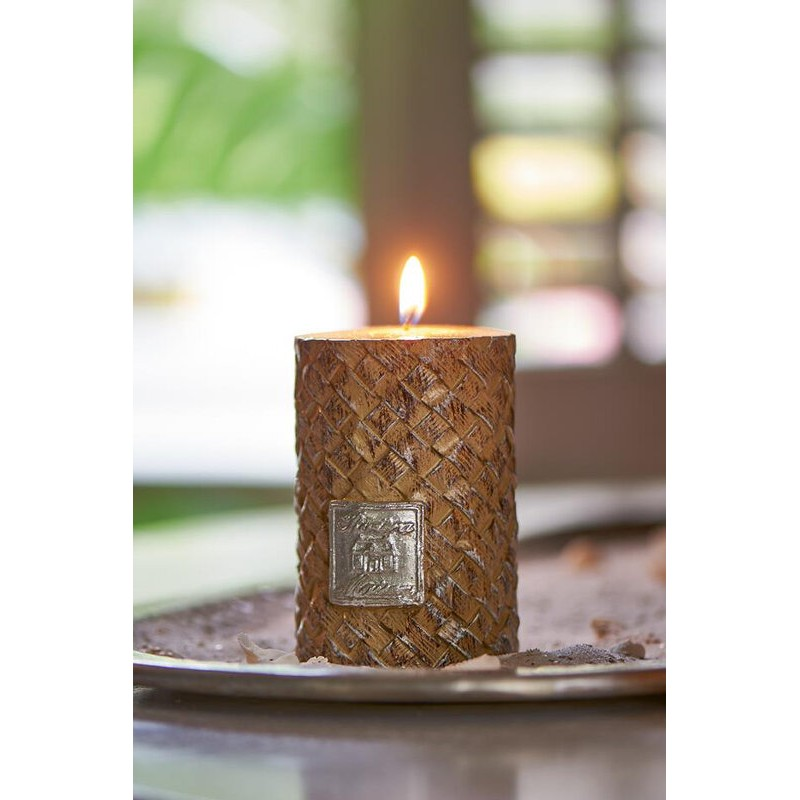 Świeca RM / Rustic Slanted Weave Candle 7x10-631